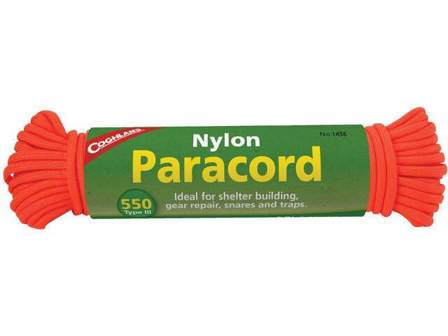 Coghlans Paracord 15,25m, neon orange